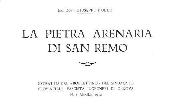 Estratto storico: La Pietra Arenaria di Sanremo