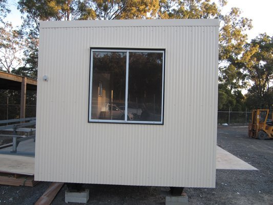 Exterior View of a Large Portable Building