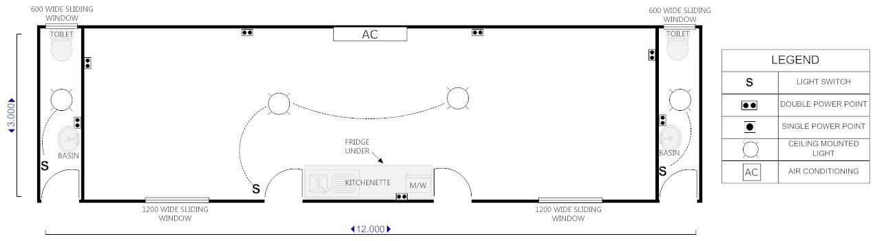 View of a customized  floor plan