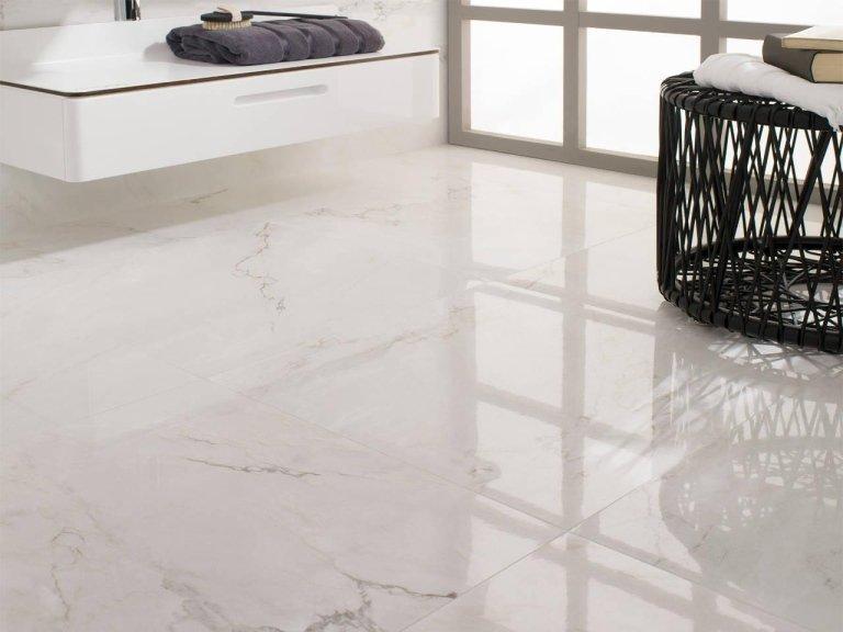 Venis pavimento ceramica bianco carrara