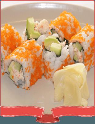 california maki rolls on a plate