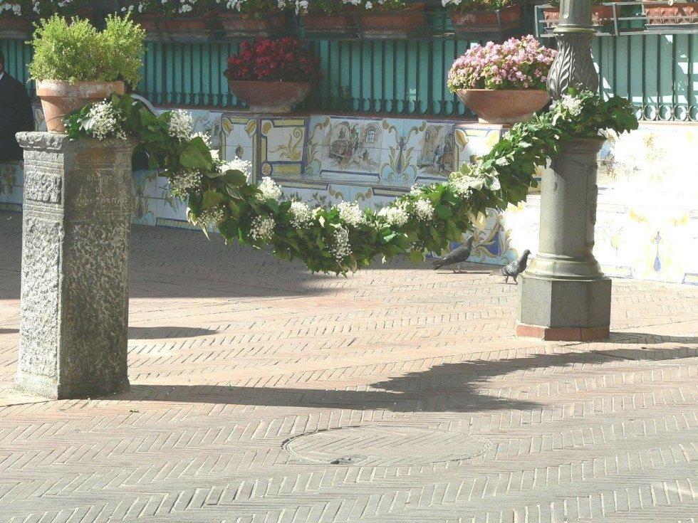 Creazioni floreali per cerimonia nuziale