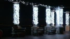 addobbi con luci natalizie