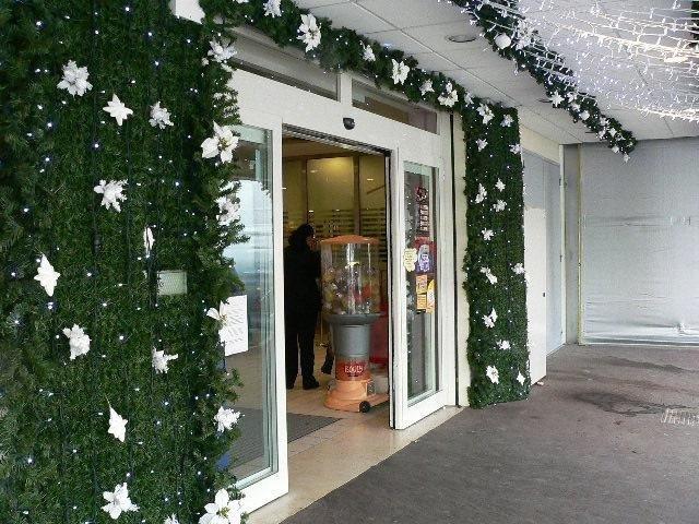 Entrata negozio con addobbi natalizie, My Garden