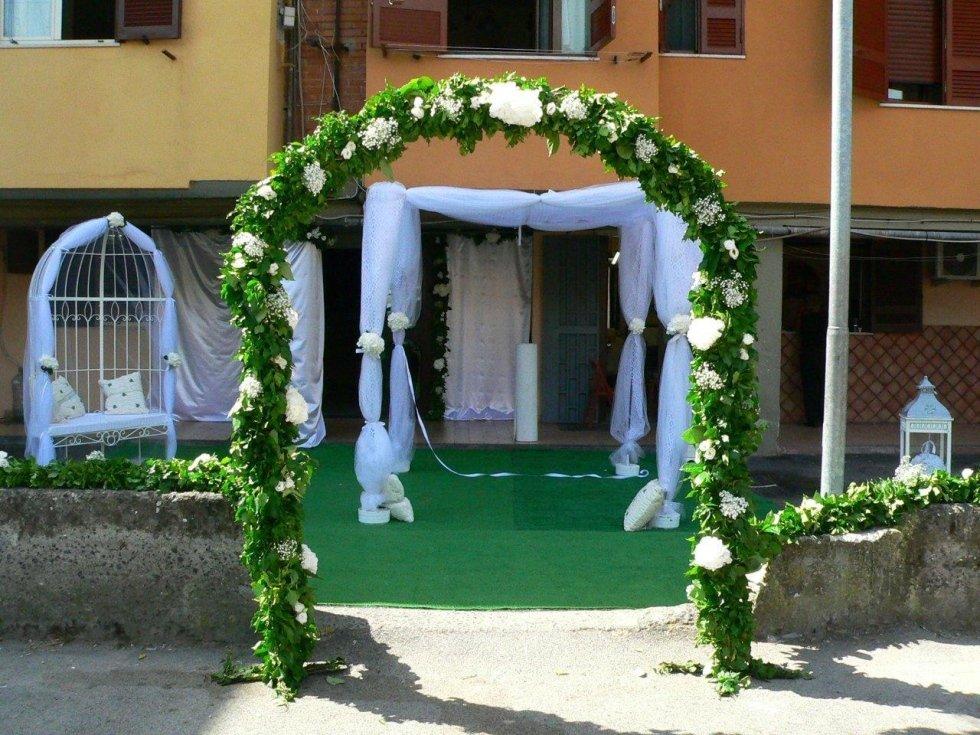 Casa della sposa addobbata