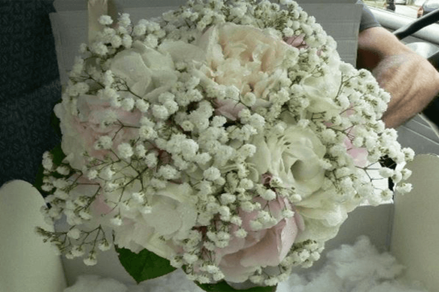 Bouquet per sposa peonia
