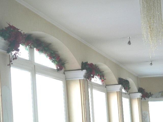 Coccarde e festoni per addobbi natalizi