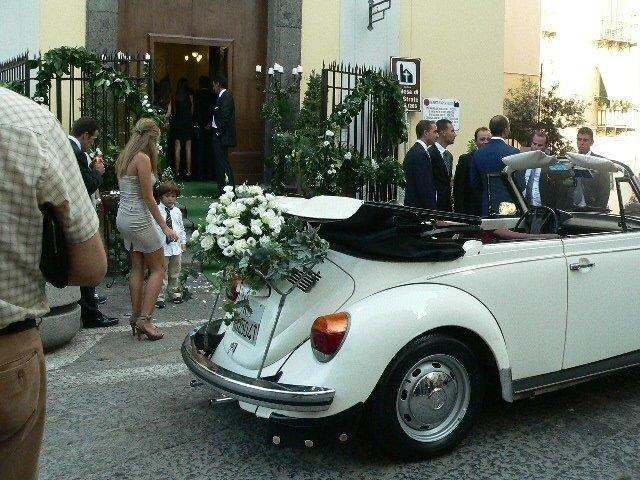 Sposa addobbo auto