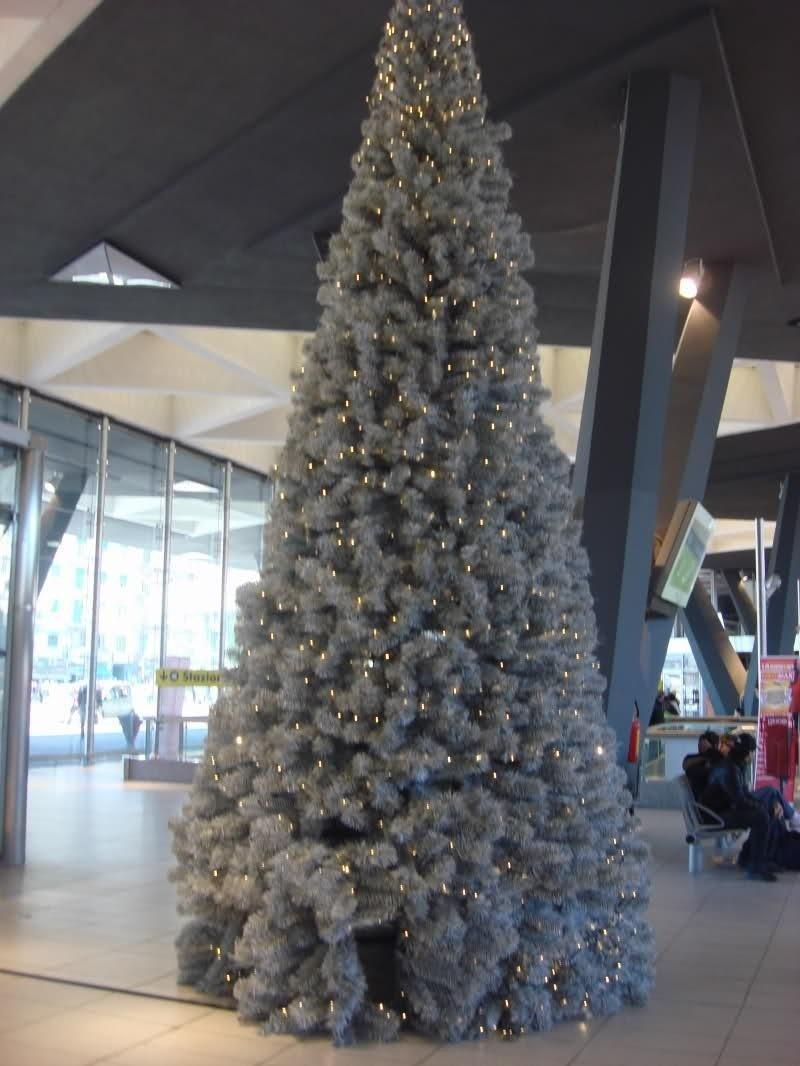 Albero di Natale ecologico presso la Stazione Centrale di Napoli