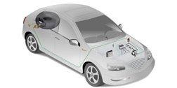 modello 3d di un'auto bianca