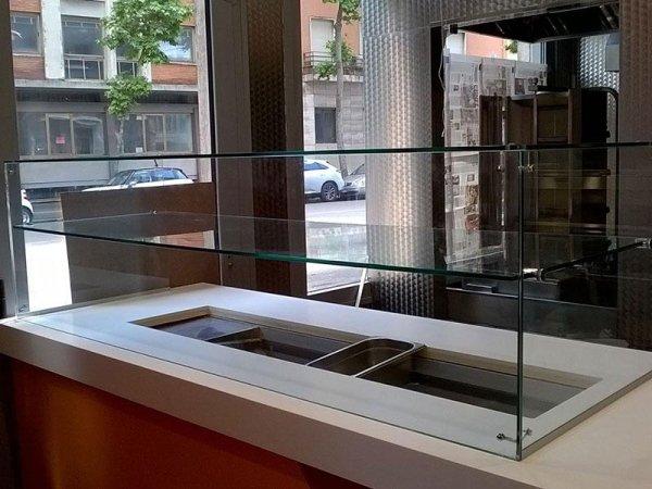 vetrata banco gastronomia pizzeria