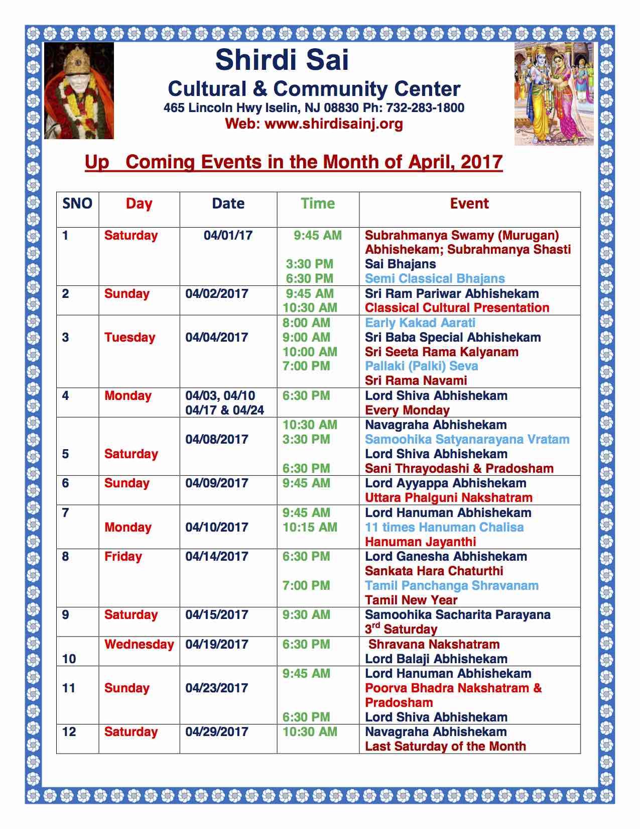 April Events