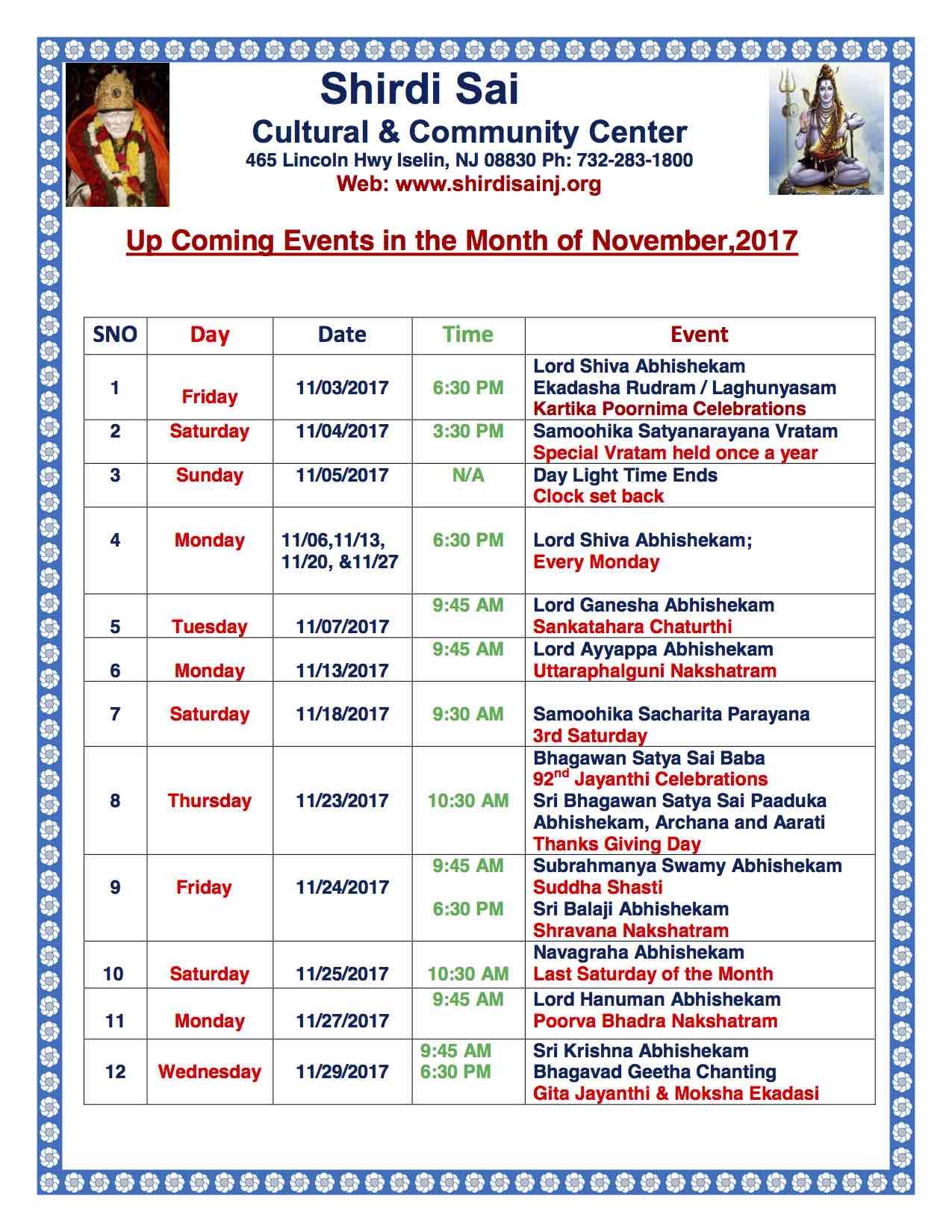 Nov 2017 Programs