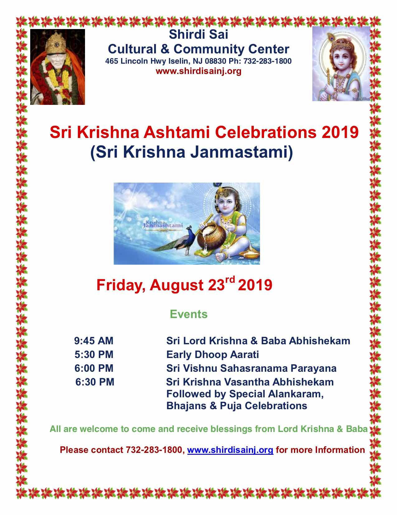 Home | Welcome to Shirdi Sai Cultural & Community Center - New Jersey