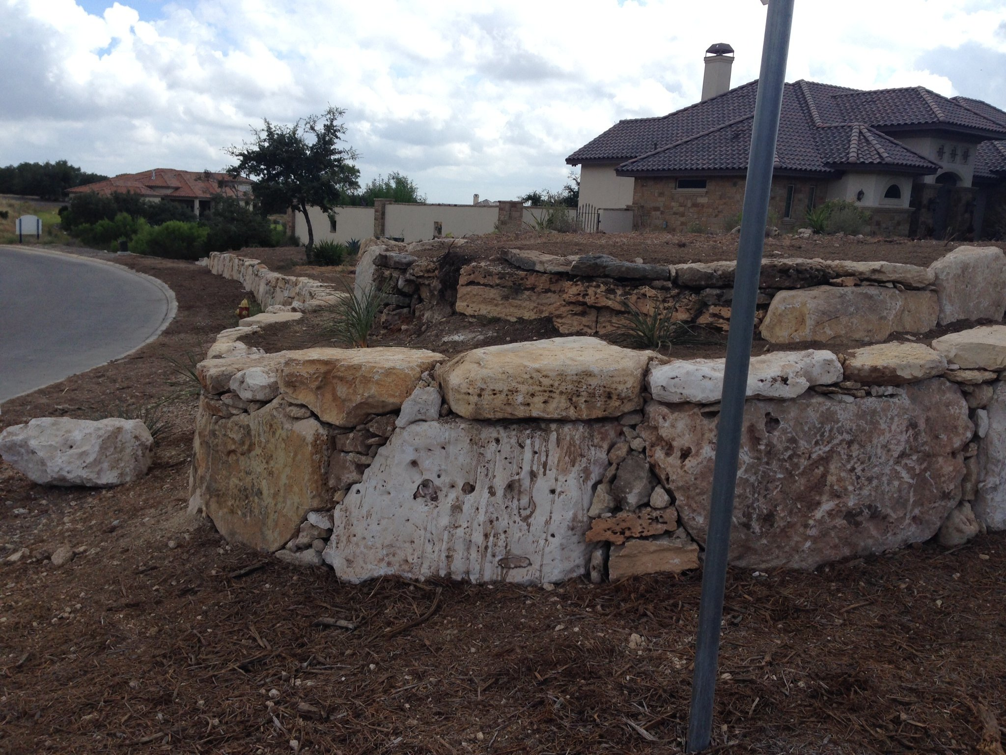 stone landscaping contractor in New Braunfels, TX