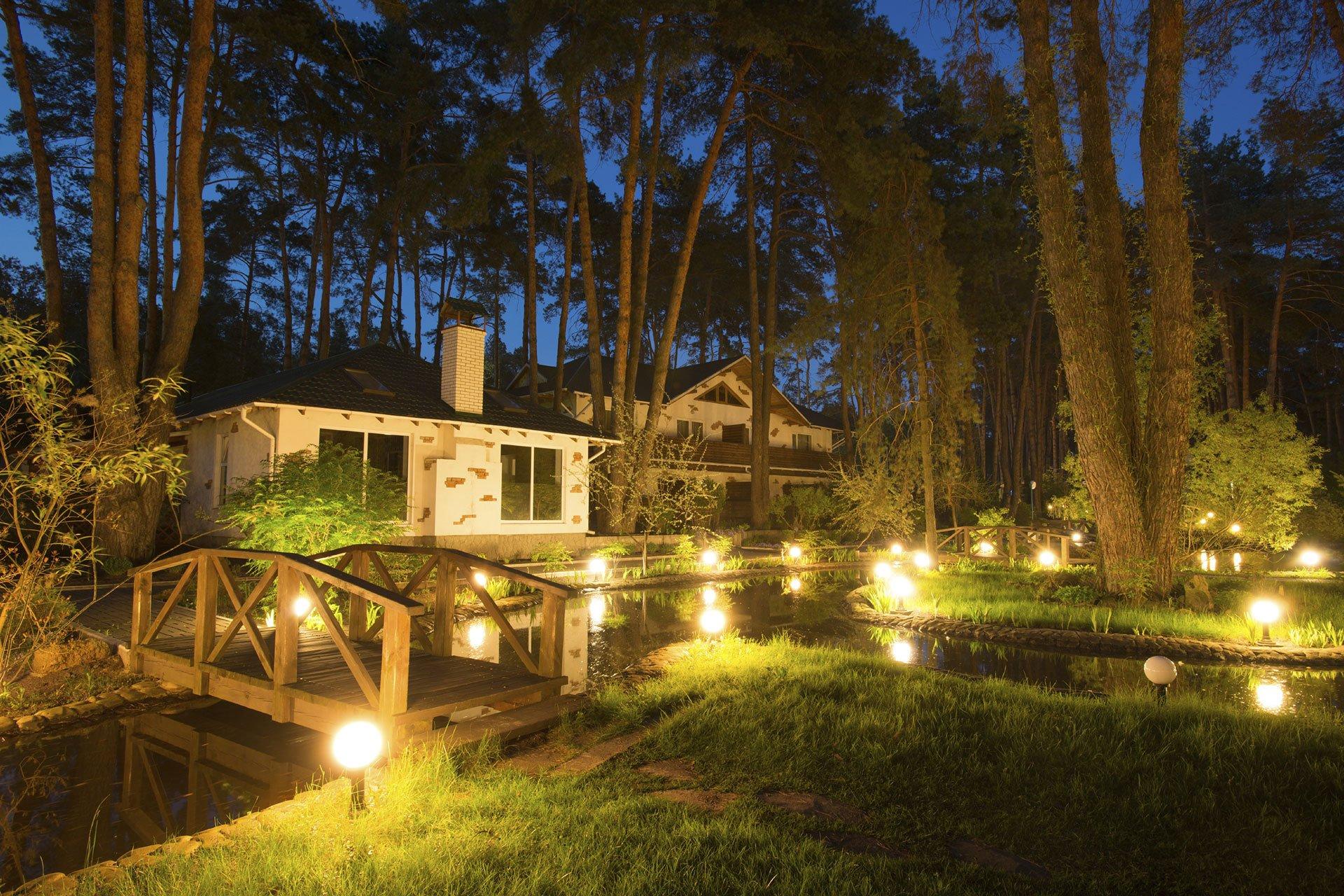 Led landscape lighting contractor seguin san antonio new braunfels tx circle b landscape design