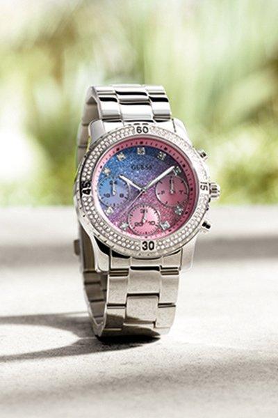 orologio con brillanti Guess