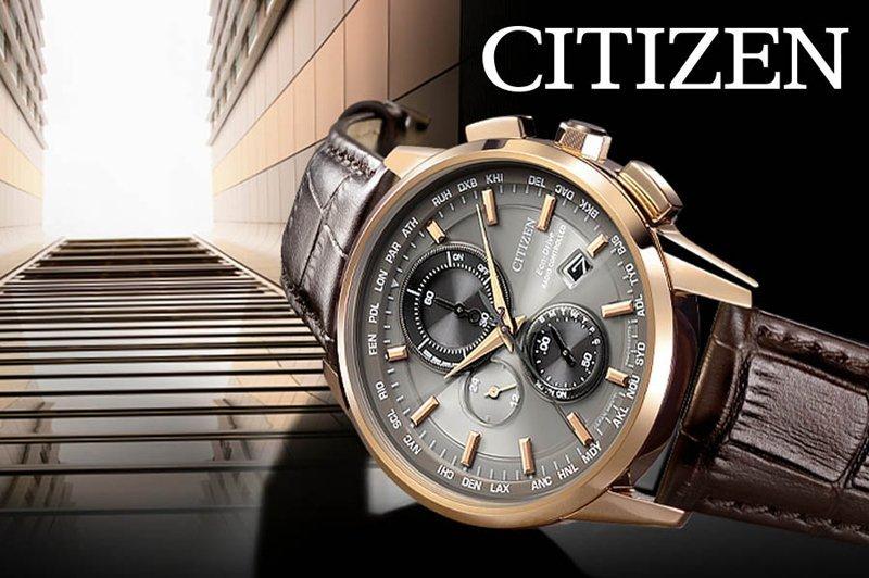 orologio Citizen con cinturino in pelle