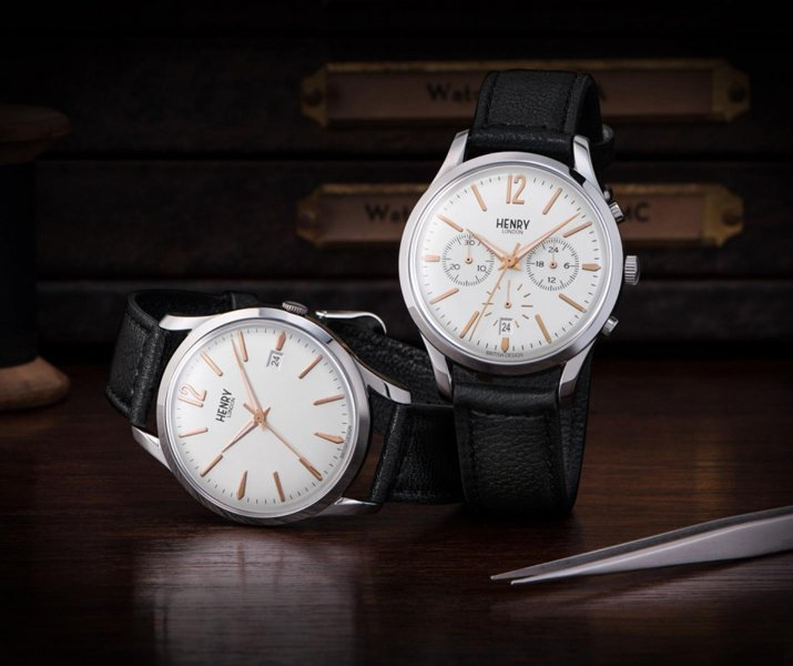 orologi con cinturino in pelle Henry London