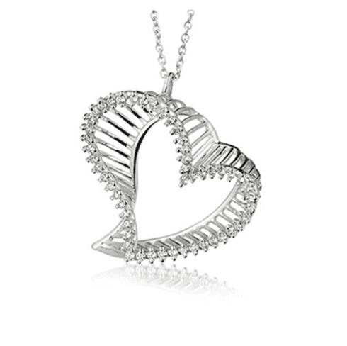 Ciondolo d'argento a forma di cuore