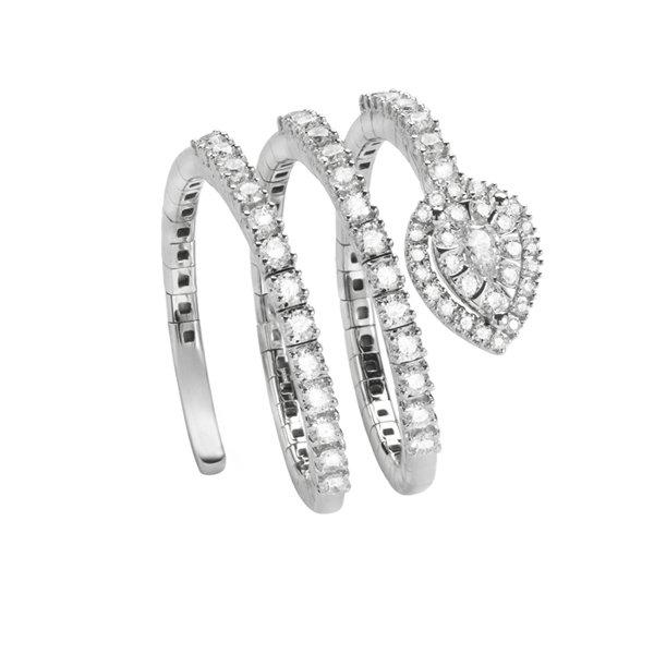 anello a spirale brillante