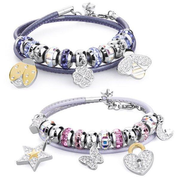 braccialetto con gioielli pendenti