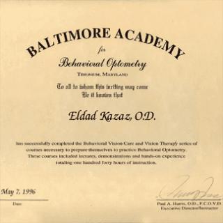 certificato baltimore academy