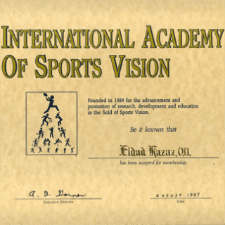 certificato international academy of sports vision