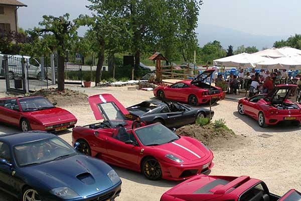 Ferrari ethusiasts meeting in Gargnano