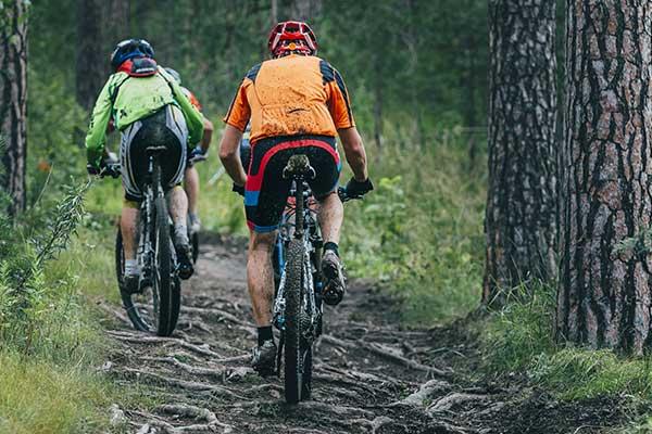 Mountain biking in high Garda Lake