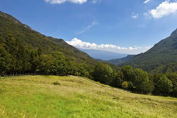 Landscape beautiful view in Gargnano