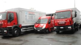 camion con sponda idraulica, pedane di salgemma, consegna sale
