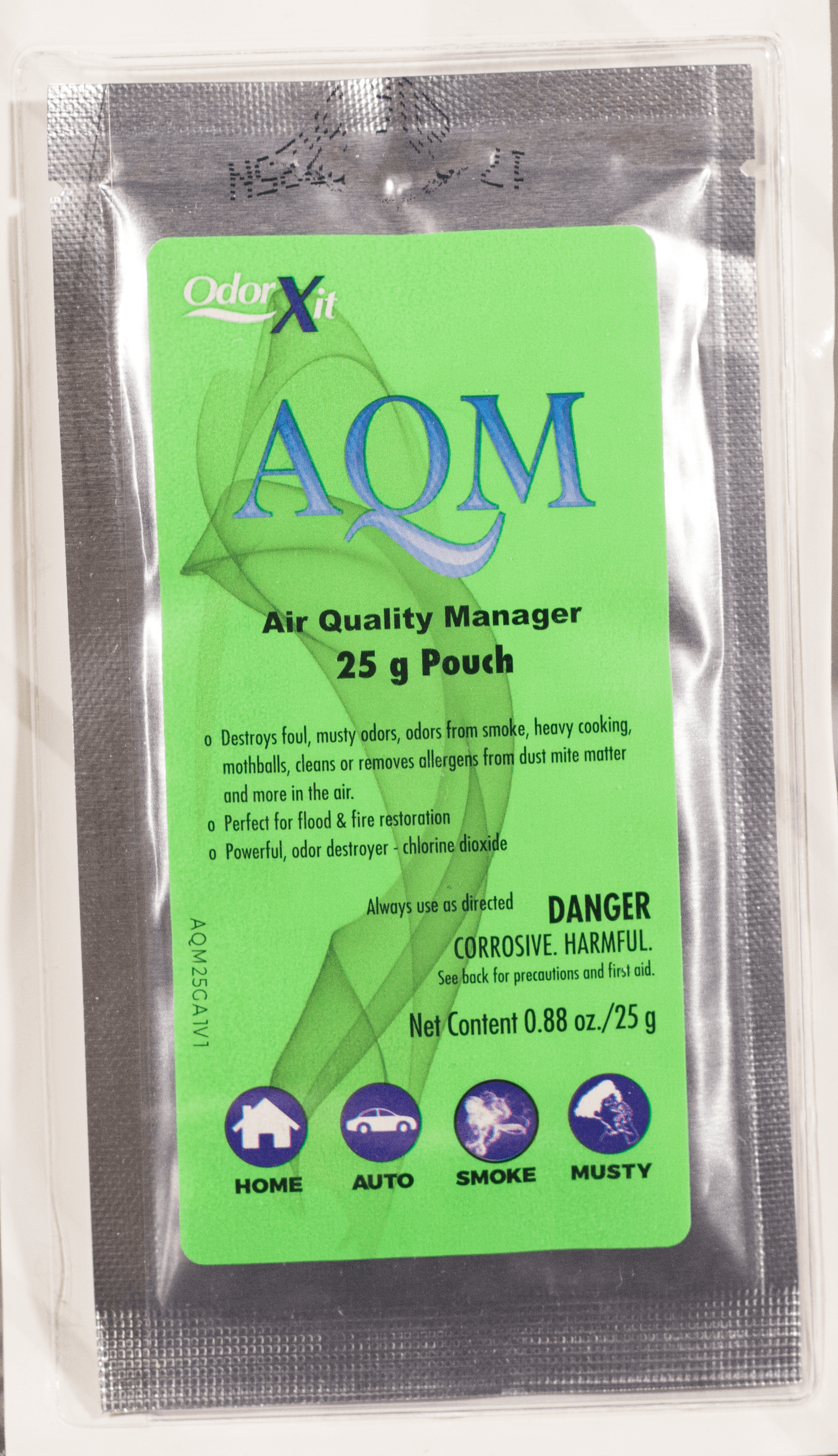 AQM eliminates mold mildew cooking odors