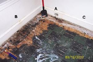 floor odor contamination