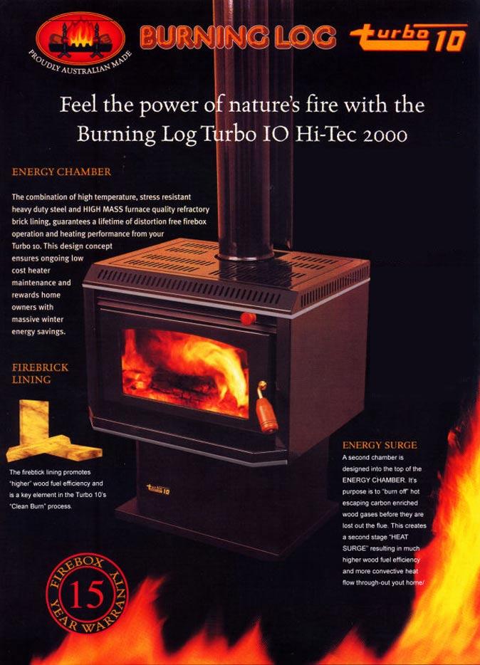 burning log brochure