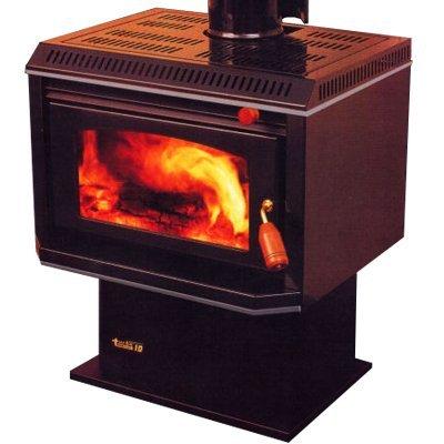 burning log fireplace