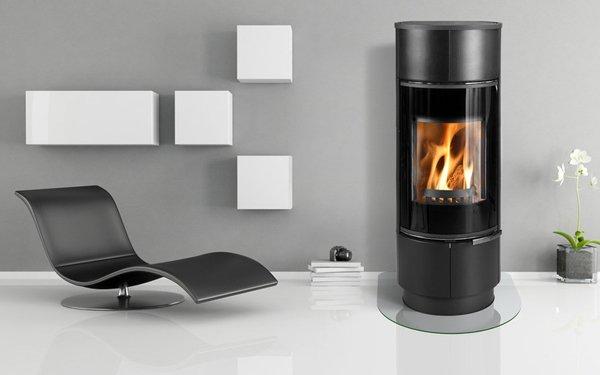 modern euro freestanding fireplace