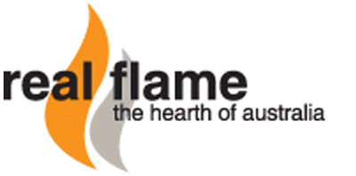 real flame gas heating logo