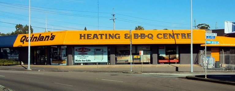 quinlans heating and bbq centre store front