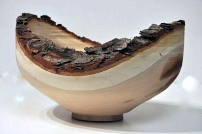 Bowl from cherry wood