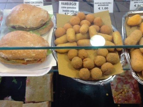 olive ascolane, crocchette, mozzarelline fritte