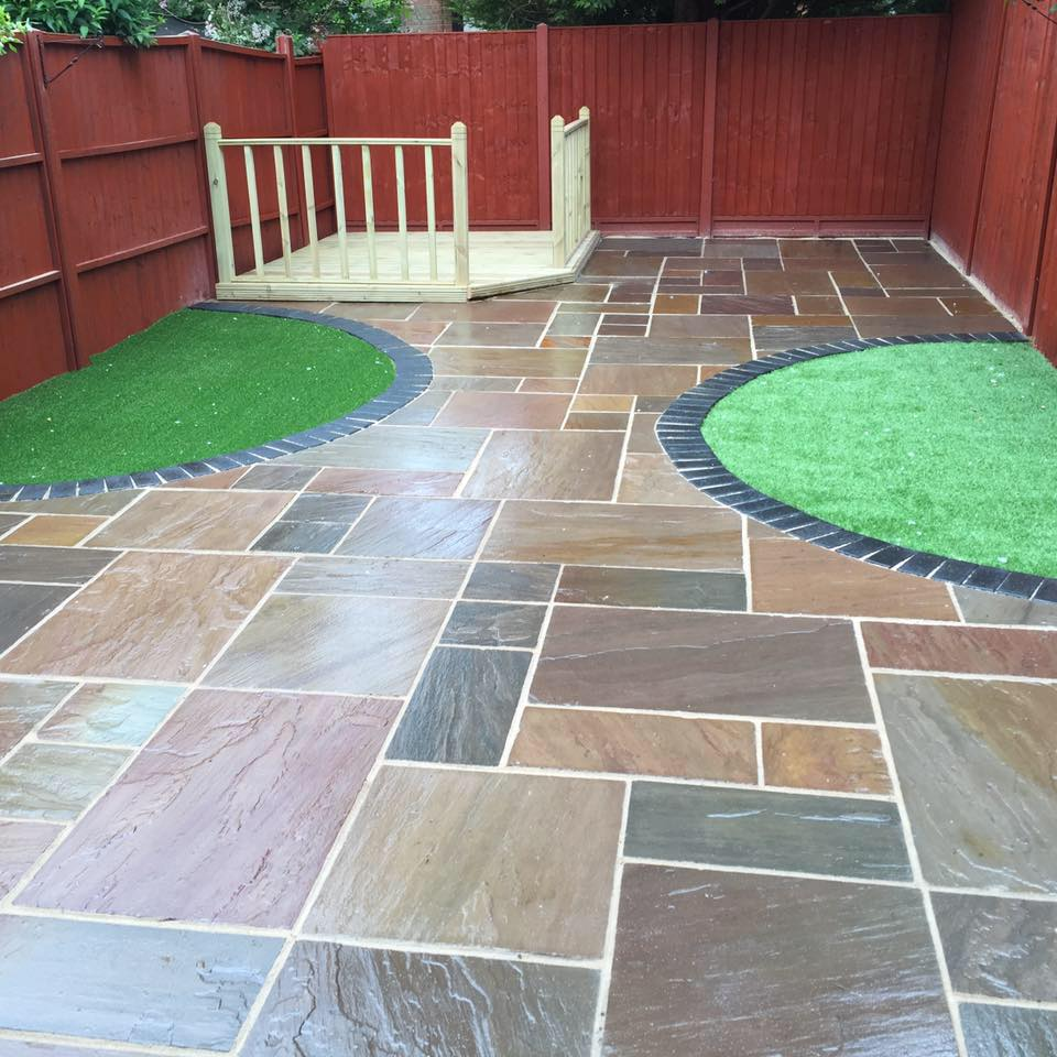 newly installed paving