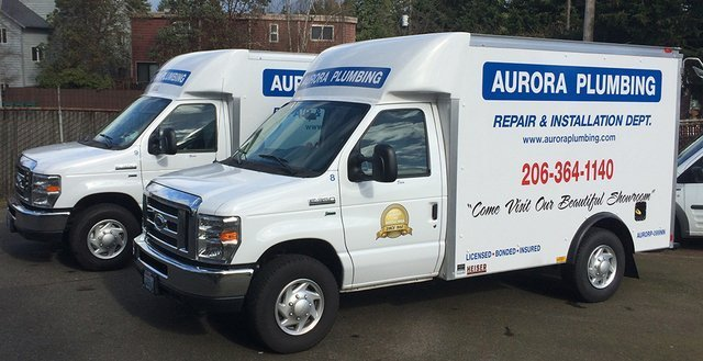 Trucks used for our emergency plumbing services in Seattle, WA