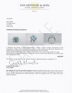 jewellery valuation page