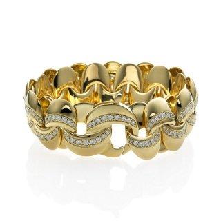 Infinity - Bracciale in oro giallo con diamanti