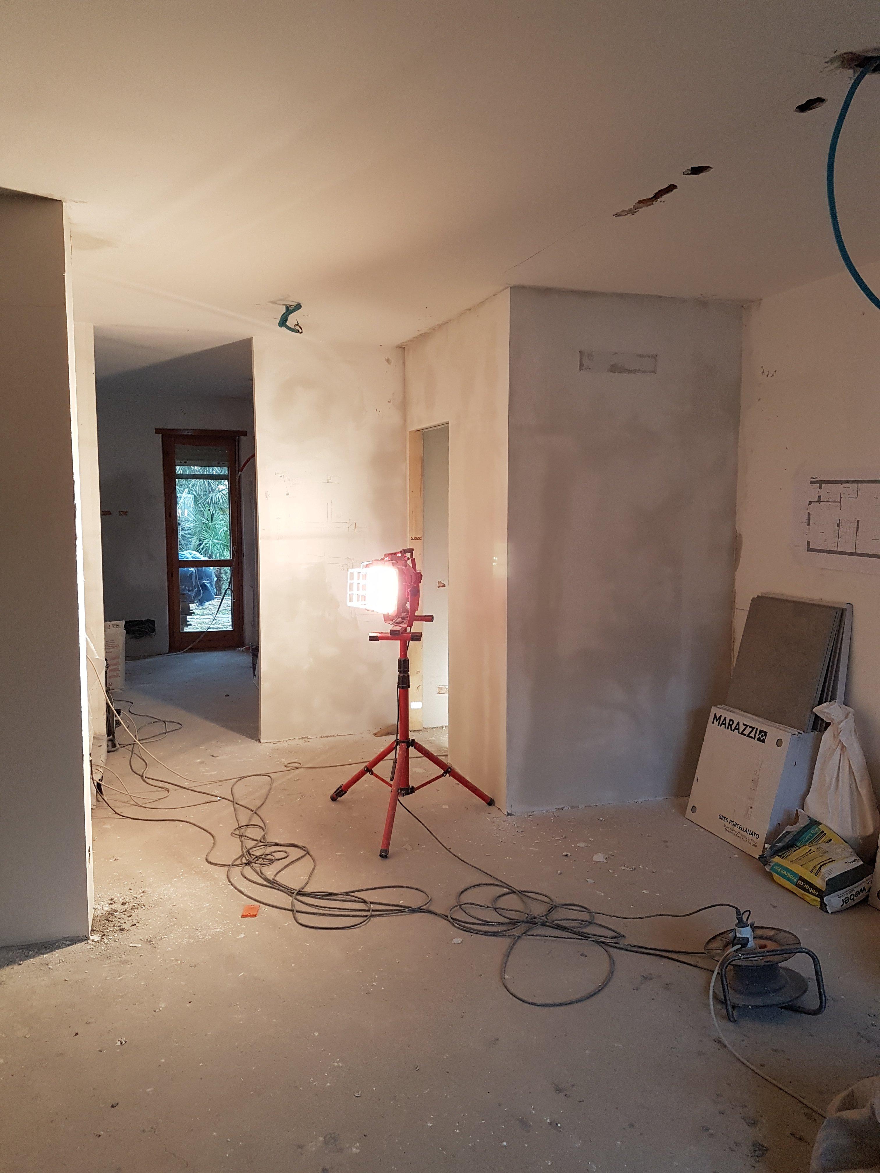 Lavori in corso in una casa