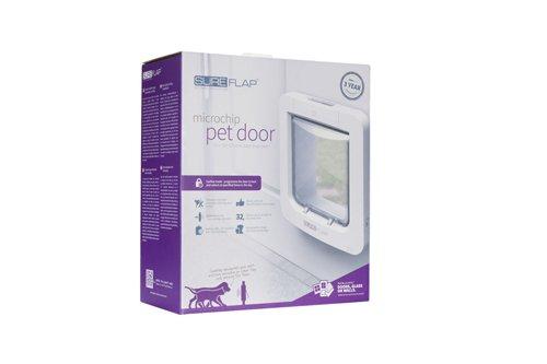 View of pet glass door