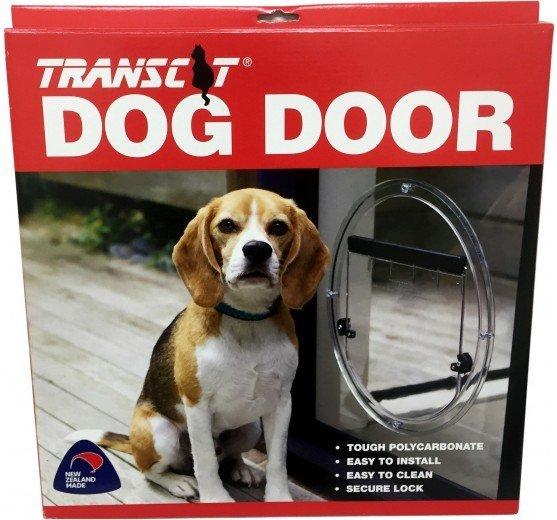 View of round dog door