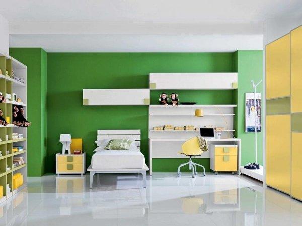 cameretta verde gialla