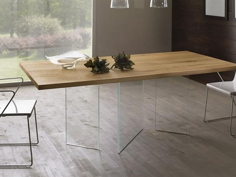 Tavolo legno vetro